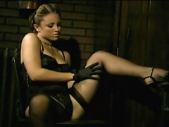 Dark scene with sexy stockings